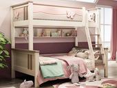 柏莎贝尔 小鹿知青 1.35*2.0米儿童床(不含梯柜、拖抽)