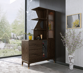 B801#瑞德家居  北欧村落气概 洋蜡木  间厅柜