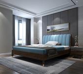 B806#瑞德家居 东迪 北欧村落气概 洋蜡木框架 皮艺1.8m床