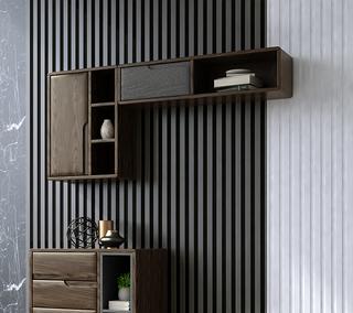 B801#瑞德家居  北欧乡村风格 白蜡木框架  竖吊柜
