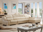纳德威  古代气概 皮沙发 功效性头枕靠包可拆洗时髦转角沙发1+3+左贵妃