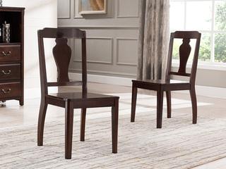 入口美国楸木 实木餐椅 美式村落气概 无扶手餐椅