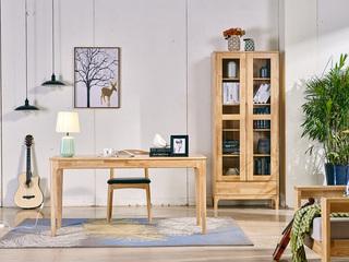 北欧气概 原木色 实木 1.2米 书桌