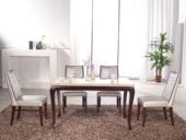 磐匠  广西白大理石台面 手工打磨滑腻桌腿 平面丝印工艺 古代气概餐桌