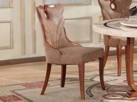 磐匠 古代餐椅全实木PU皮椅子餐厅家具欧式村落休闲椅组合(2把)
