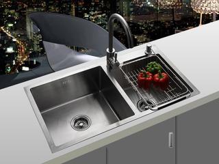 【包邮 送货到楼下(偏僻地域除外)】 手工水槽 厨房洗菜池 304不锈钢加厚大单槽台下上盆 60*45 SG6045-T16