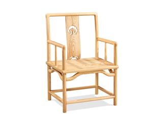 中式气概 北美入口洋蜡木椅子