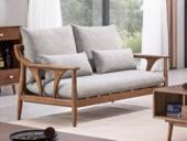 源木光阴 北欧气概 北美入口洋蜡木 布艺沙发 两人沙发