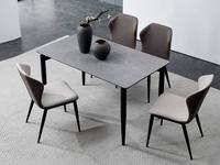 洛林菲勒 极简气概 碳素钢脚 深灰 餐椅(单把价钱 需双数采办 双数不发货)