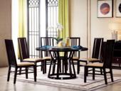 墨舍 新中式 西北亚入口红檀木 自然大理石(转盘)C951 圆餐台 1.35米餐桌
