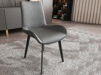 菲格 极简气概 高品德磨砂皮 碳素钢椅脚 餐椅(1把价钱,2把起售,不但卖)