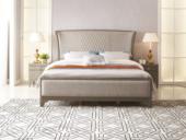 美克世家 简美气概 北美入口榉木坚忍框架 棉夏布面料 松木床板条床 1.8*2.0米床
