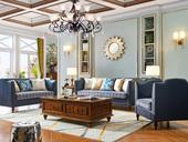 维格兰 实木脚布艺沙发 内置高密度海绵 纯粹简美混搭款皮布连系沙发(1+2+3)