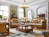 维格兰 简美气概 入口橡胶木 坚忍无形 金丝柚木色 雀跃厚重 店长保举 美式沙发组合(1+2+3)