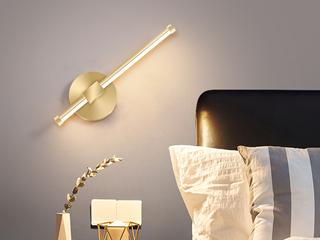 壁灯 古代繁复 餐厅客堂 寝室壁灯 金色(含光源) 可330°扭转