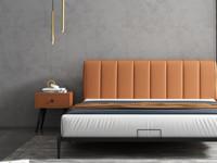 艺家 轻奢气概  橙色 床头柜