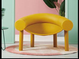 轻奢气概 实木框架 创艺休闲椅