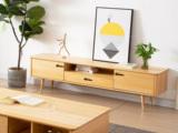 慕森 北欧风格 榉木坚固框架 原木色 电视柜