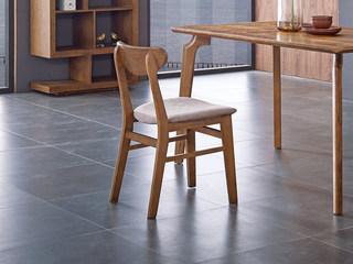 北欧风格 原木工艺 北美进口白蜡木 小清晰 磨砂皮 餐椅
