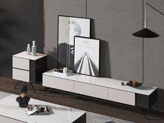 极简风格 2.0米 防刮耐磨 岩板电视柜(不含斗柜)