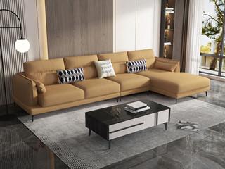 现代简约 优质科技布 实木框架+公仔棉 1+3+左贵妃 沙发组合