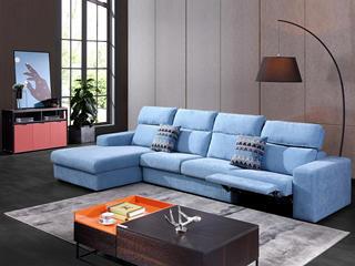 现代简约845布艺功能沙发 转角沙发(1+2+右贵妃)