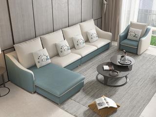 【】X1910B (1+3+左/右贵妃+双扶手单人位) 现代风格 科技布面料 多种组合、配色沙发套装(不分左右)