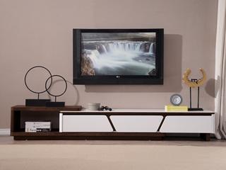 优质烤漆现代客厅家具白色电视柜(不含边柜)