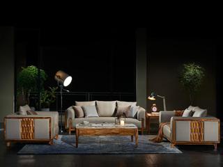 简乌金系列  优质乌金木 坚固框架 沙发组合(1+2+3)
