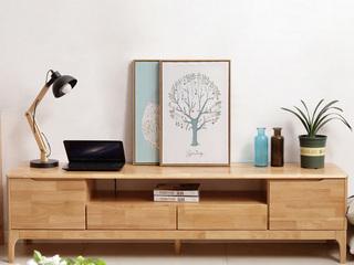 北欧风格 原木色 实木 电视柜