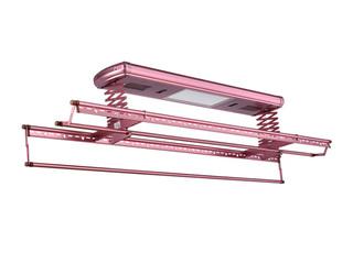 【包郵 送貨到樓下(偏遠地區除外)】 622H熱風烘干+紫外線消毒+LED照明多功能晾衣架 玫瑰金升降晾曬架 可升降