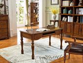 维格兰 美式风格 金丝楠木色 实木 书桌
