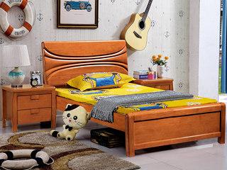 地中海 1.2m 柚木色 儿童床