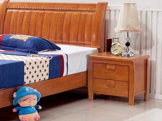 地中海  柚木色 儿童床床头柜