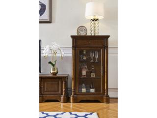 美式风格  实木单门酒柜