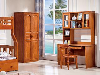 现代风格 柚木色 直角书柜
