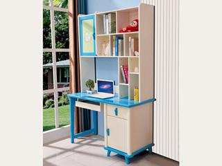 蓝白直角书柜