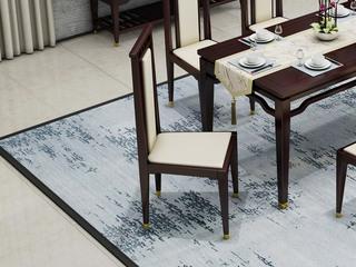 金丝檀木实木 舒适皮艺座包 新中式无扶餐椅