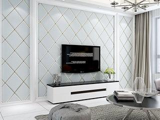 【包邮】简约卧室书房客厅电视背景 鹿皮绒墙纸墙纸