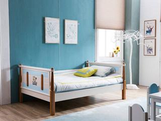 地中海实木儿童床506# 1.5米单床(不含书柜)