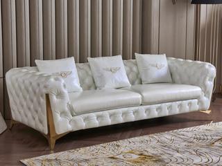 慕梵希 轻奢3人位样色 高端纳帕皮 北美进口落叶松框架 C33沙发