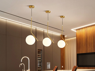 北欧风格 铁艺电镀+玻璃8002-25餐吊灯(单个)(含E27尖泡7W白光)