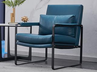 极简风格 进口头层牛皮 SQ-28休闲椅