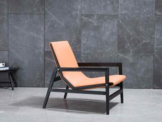 极简 进口红橡木 手工工艺拉丝  休闲椅