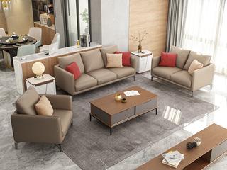 现代简约风格 优质耐磨科技布面料 稳固实木框架 布艺沙发组合(1+2+3)