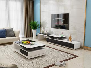 现代简约 黑白玻璃电视柜