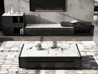 现代简约 大理石 黑白色 边柜