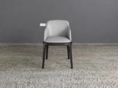 米勒 现代简约  实木+环保皮 有扶手餐椅