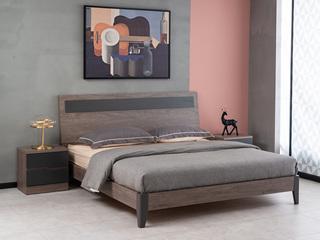 现代简约 高级灰 经济型卧室床 1.8*2.0米床