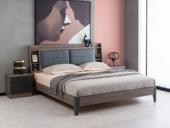 科隆印象 现代简约 高级灰 实木床脚 卧室双人床 1.8*2.0米床
